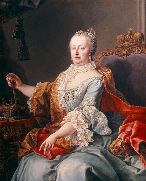 Maria Teresa d'Austria, qui ritratta, organizza le nuove riforme