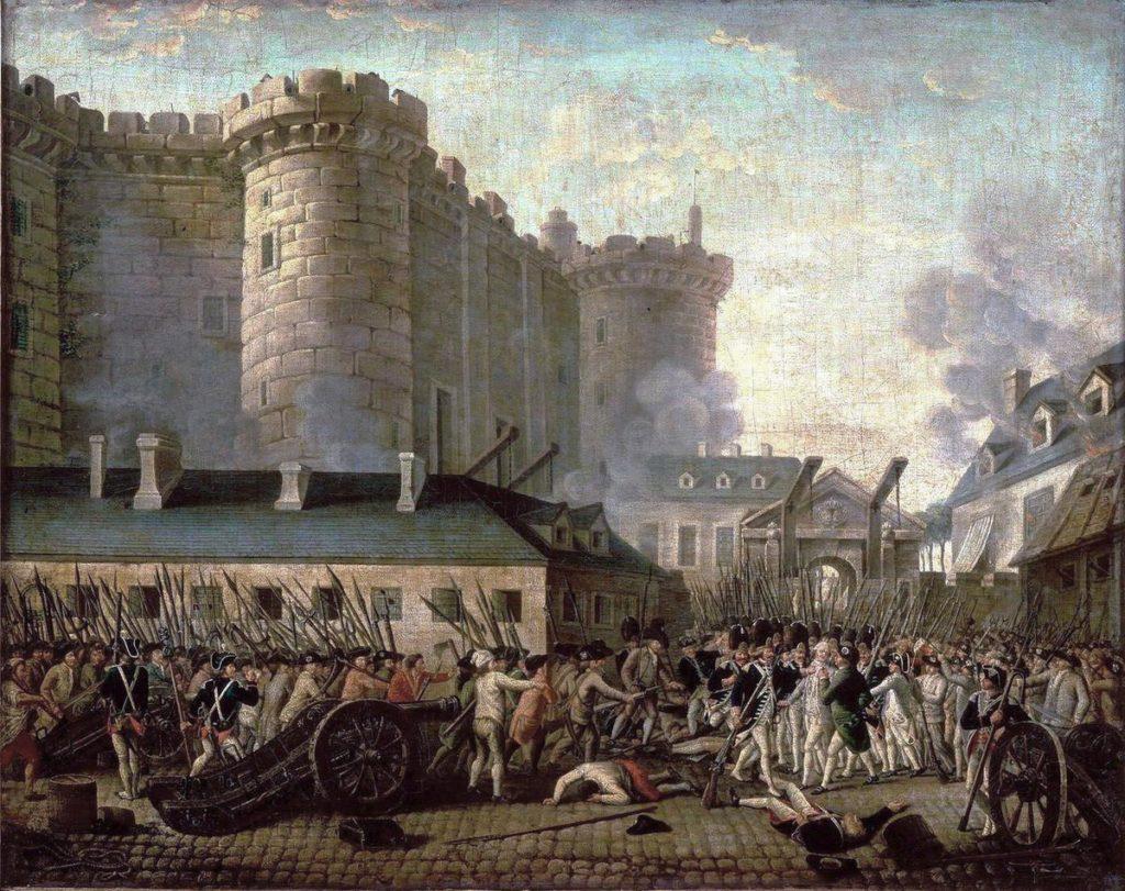 Il popolo di Parigi assalta la fortezza della Bastiglia il 14 luglio 1789